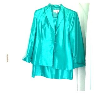 Le Suit (teal) never worn